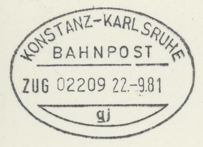Bahnpost aus Baden-Württemberg Konsta13