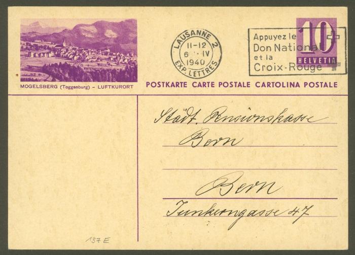 Die Poststempel von Lausanne Lausan12