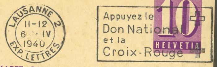 Die Poststempel von Lausanne Lausan13