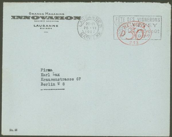 Die Poststempel von Lausanne Lausan14