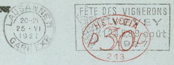 Die Poststempel von Lausanne Lausan15
