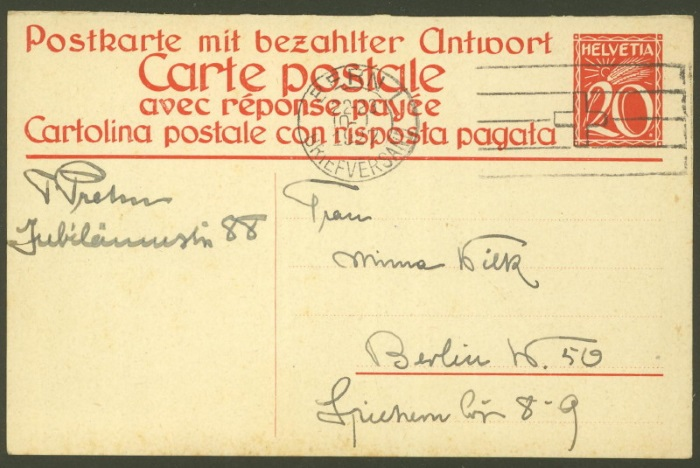 Ganzsachenpostkarten - Ausgaben 1900 bis 1934 P_105_10