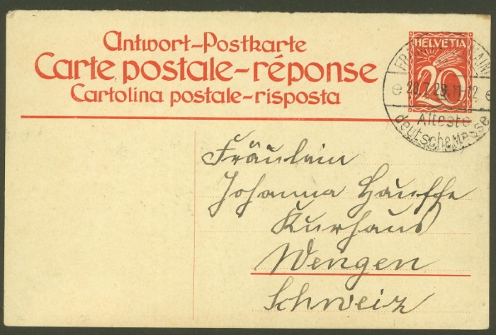 Ganzsachenpostkarten - Ausgaben 1900 bis 1934 P_105_12