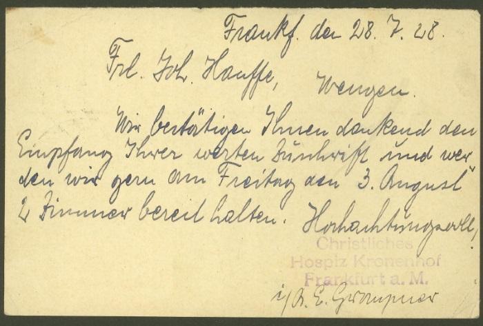 Ganzsachenpostkarten - Ausgaben 1900 bis 1934 P_105_14