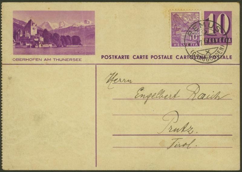 Bildpostkarten Zumstein P 139, 139y, 139z (269  verschiedene Karten)  P_139y18