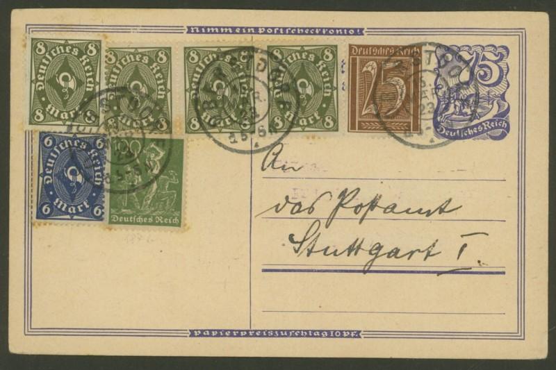 Deutsches Reich: Ganzsachen-Postkarten 1918 bis 1923 P_146_11