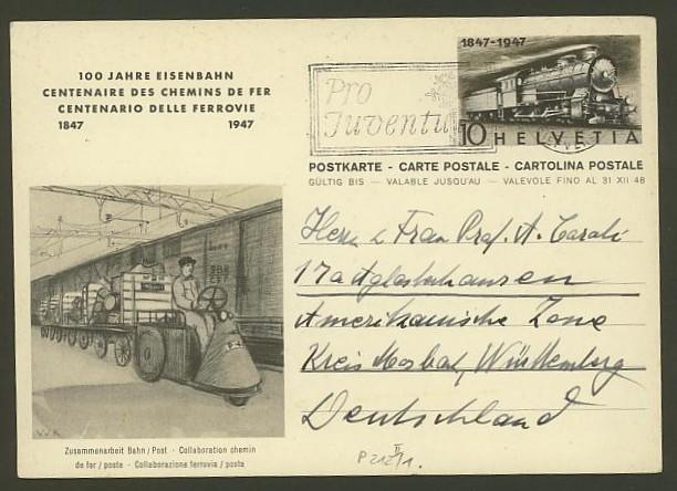 """Sonderausgabe  """"100 Jahre Eisenbahn"""" vom 9.8.1947 P_212_11"""