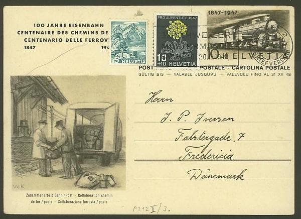 """Sonderausgabe  """"100 Jahre Eisenbahn"""" vom 9.8.1947 P_212_12"""