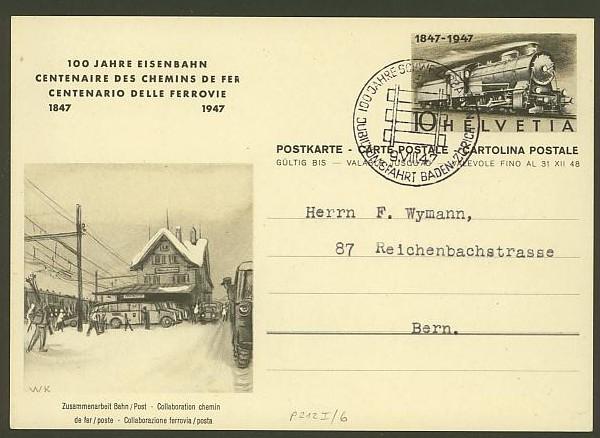 """Sonderausgabe  """"100 Jahre Eisenbahn"""" vom 9.8.1947 P_212_15"""