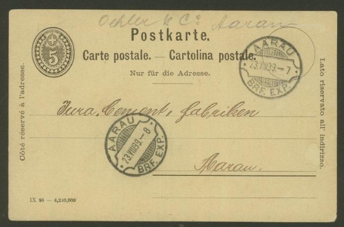 Ganzsachenpostkarten mit privaten Zudrucken P_26_t12