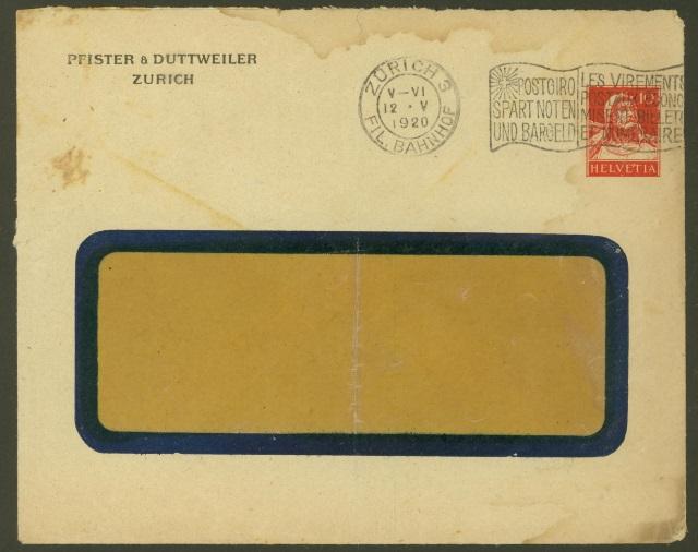 Private Ganzsachenumschläge - Wertstempel Tellkopf Pfiste10