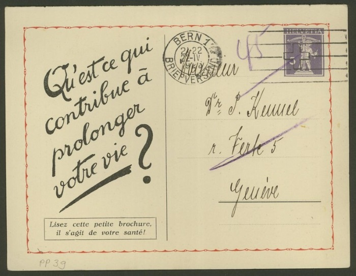 Private Ganzsachenpostkarten - Wertstempel Tellknabe und Helvetia (Ausgabe 1909) Pp_39_10