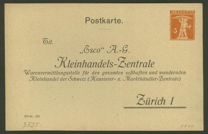 Private Ganzsachenpostkarten - Wertstempel Tellknabe Pp_40_10