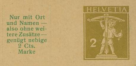 Private Ganzsachenpostkarten - Wertstempel Tellknabe und Helvetia (Ausgabe 1909) Pp_44_10