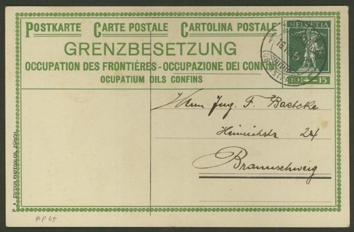 Private Ganzsachenpostkarten - Wertstempel Tellknabe Pp_45_10