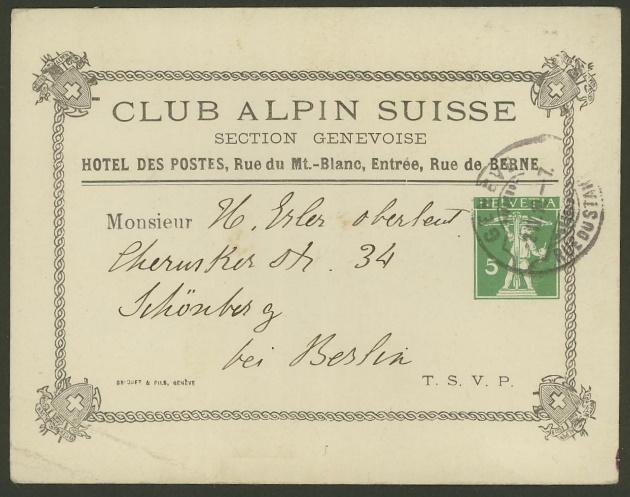 Private Ganzsachenpostkarten - Wertstempel Tellknabe und Helvetia (Ausgabe 1909) Ppk_2510