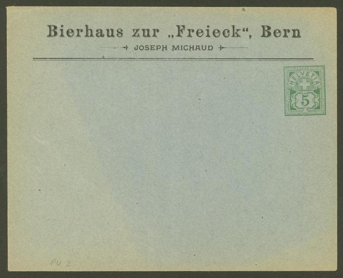 Private Ganzsachenumschläge - Wertstempel Kreuz und Wertziffer Pu_2_b11