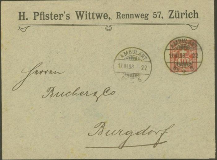 Private Ganzsachenumschläge - Wertstempel Kreuz und Wertziffer Pu_3_p11