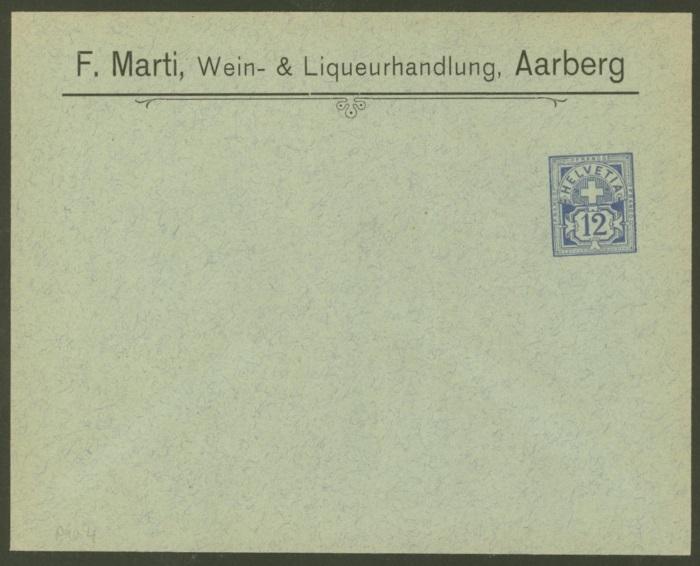 Private Ganzsachenumschläge - Wertstempel Kreuz und Wertziffer Pu_4_m10