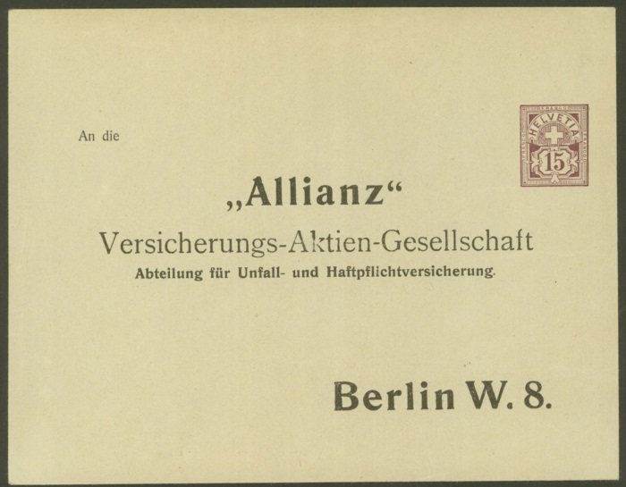 Private Ganzsachenumschläge - Wertstempel Kreuz und Wertziffer Pu_5_a10