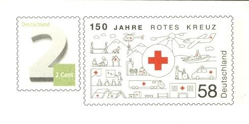 Deutschland - Gedenkbriefumschläge der Deutschen Post Rotes_10
