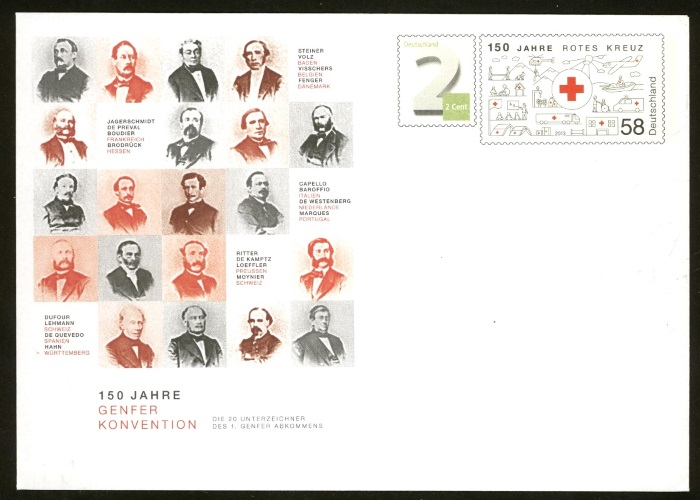 Deutschland - Gedenkbriefumschläge der Deutschen Post Rotes_12