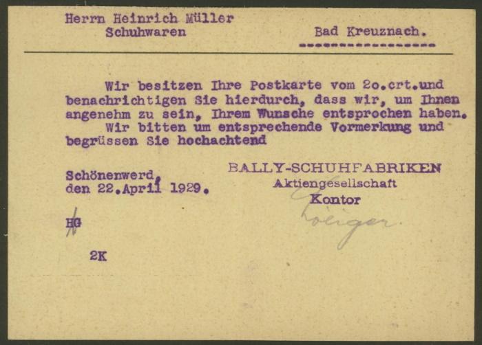 Bally-Schuhfabriken, Schönenwerd Tellko13