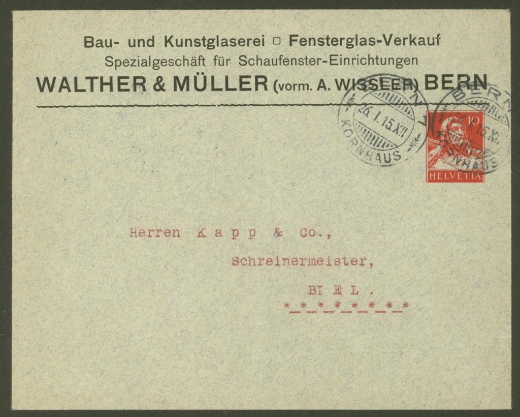 Private Ganzsachenumschläge - Wertstempel Tellkopf Walthe11