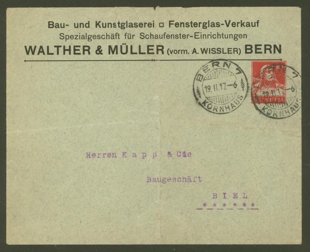 Private Ganzsachenumschläge - Wertstempel Tellkopf Walthe13