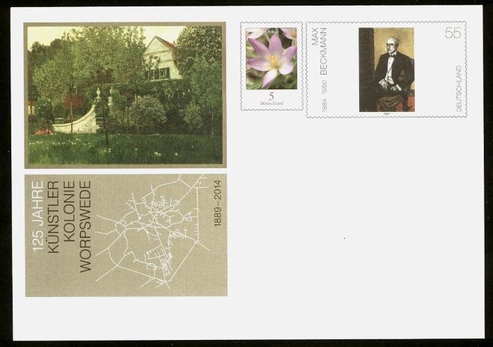 Deutschland - Gedenkbriefumschläge der Deutschen Post Worpsw10
