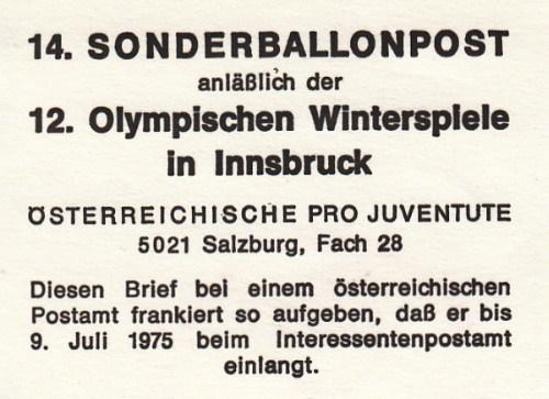 Kinderdorf-Sonderballonpost in Österreich Xiv_b_12