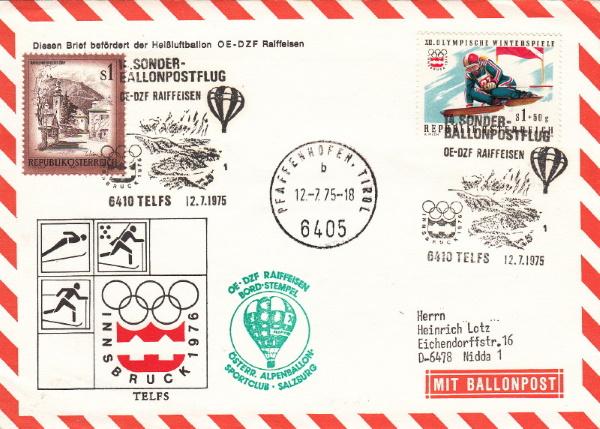 Kinderdorf-Sonderballonpost in Österreich Xiv_d_12