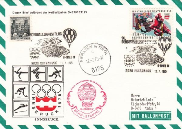 Ballonpostkarten aus Österreich Xiv_e_11