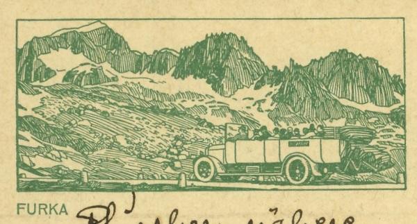 Kraftfahrzeuge auf Bildpostkarten der Schweiz Zu_10710