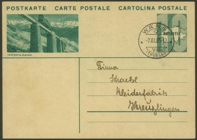 Bahnen jeder Art auf Bildpostkarten der Schweiz Zu_13310