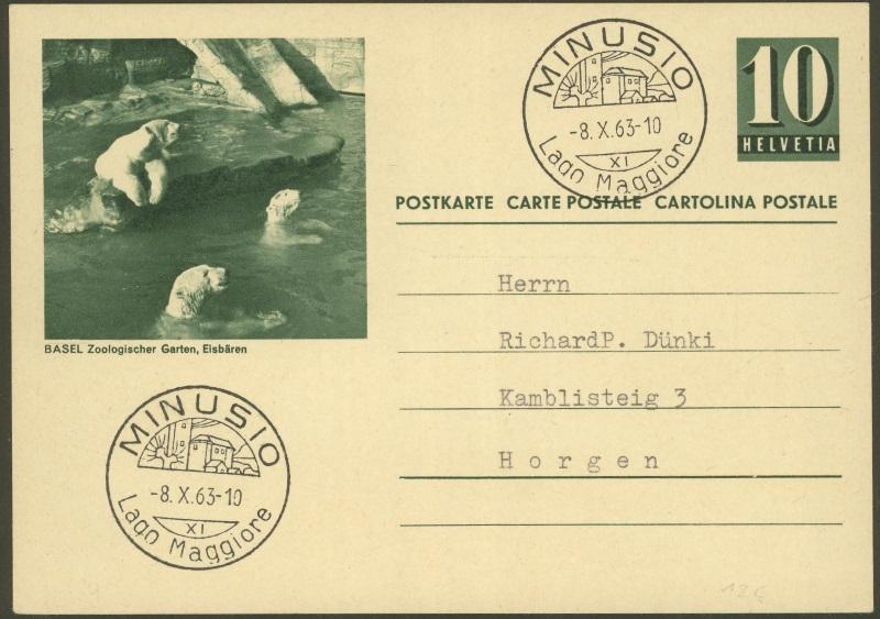 Tiere auf Bildpostkarten der Schweiz Zu_19310