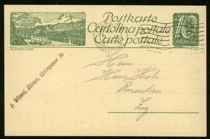 Kraftfahrzeuge auf Bildpostkarten der Schweiz Zu_82_11