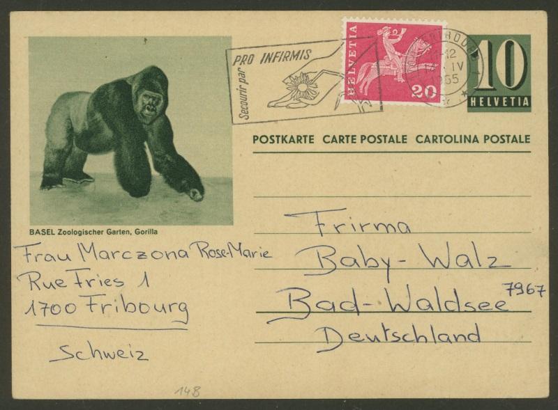 Tiere auf Bildpostkarten der Schweiz Zu_p_118