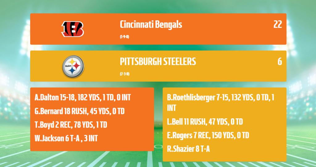 Bengals@Steelers Bengal12
