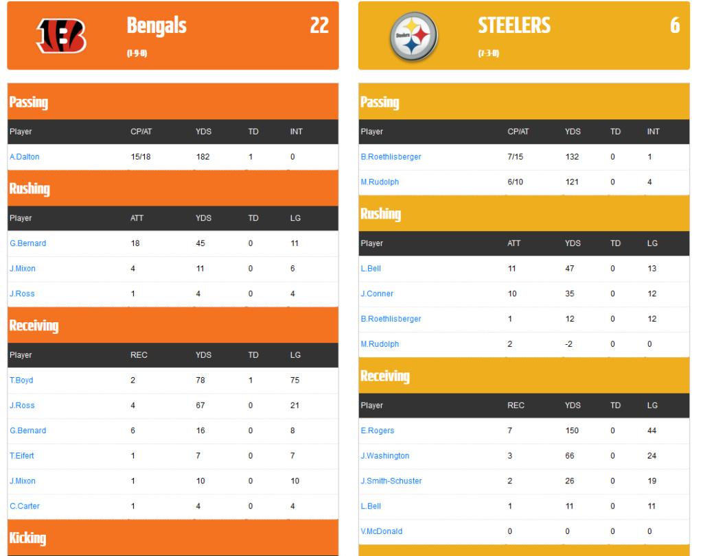 Bengals@Steelers Bengal13