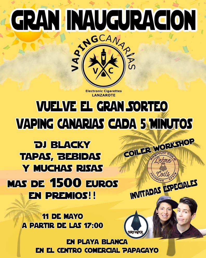 próxima inauguración / Vaping canarias en Lanzarote 59453810