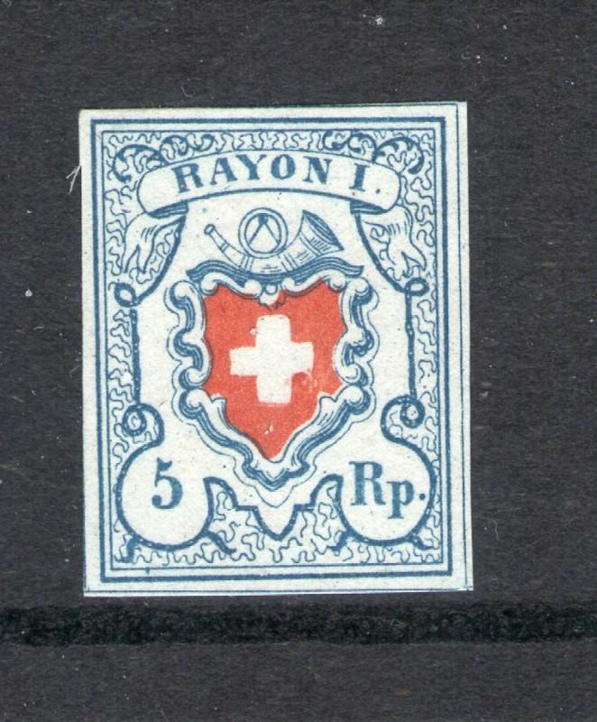 SBK 17II (Mi 9II) Rayon I, hellblau ohne Kreuzeinfassung 5rp_1810