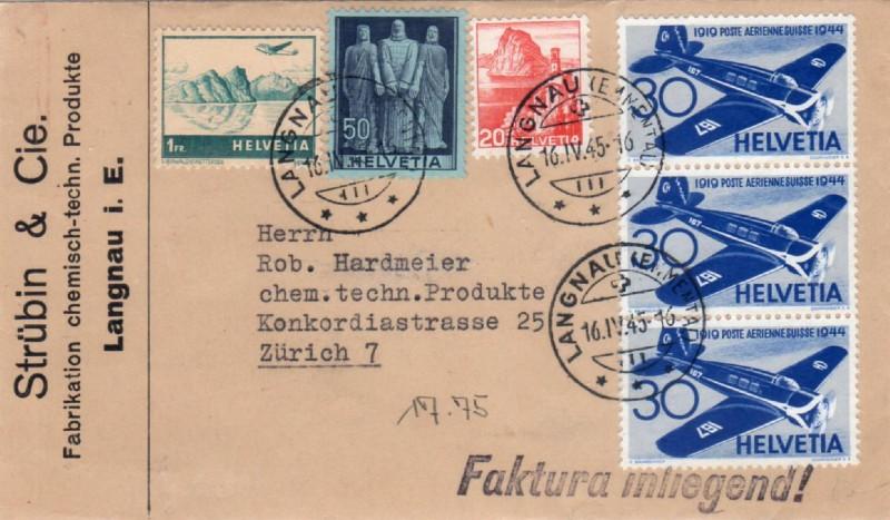 Brief von Langnau i.E. nach Zürich Busta_10