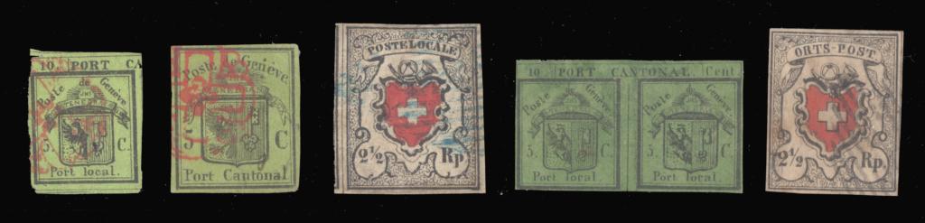 Zürich 6, Genf 5 cent. und Ortspost: Fälschungen oder Echt? Eric_210