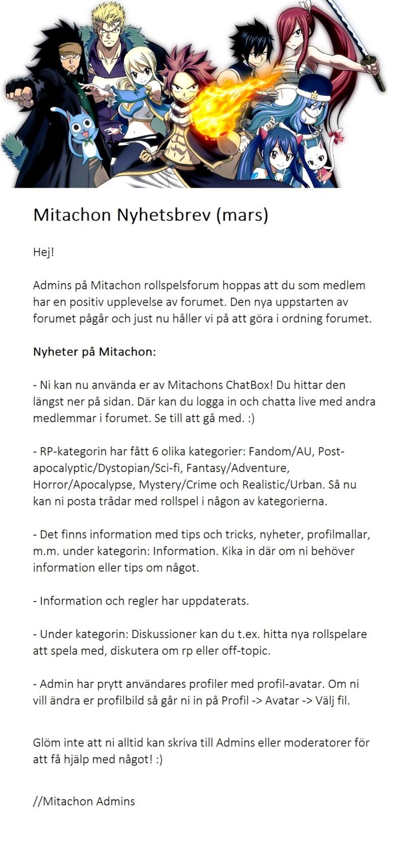 Mitachon Nyhetsbrev (Mars 2019) Mitach11