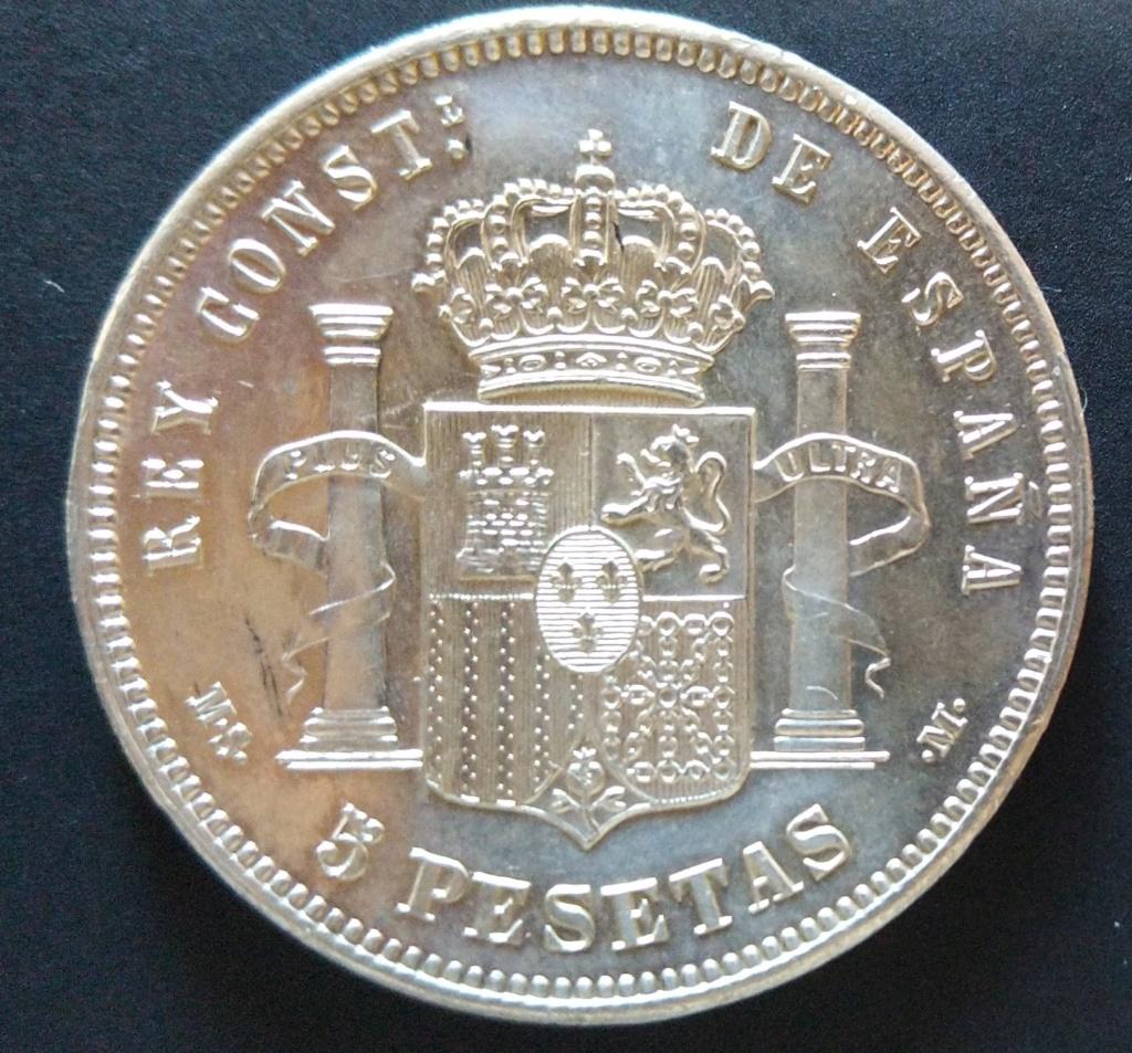 5 Pesetas 1885 (*18-85). Alfonso XII Cm190514