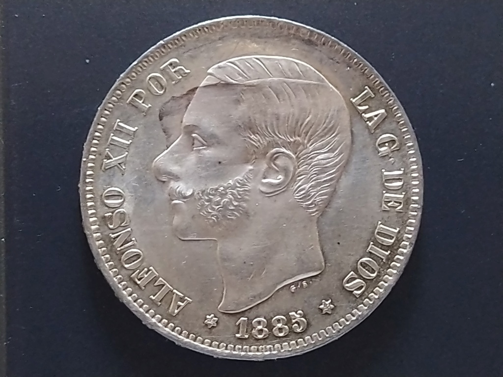 5 pesetas 1885 (*18-87). Alfonso XII Img_2040