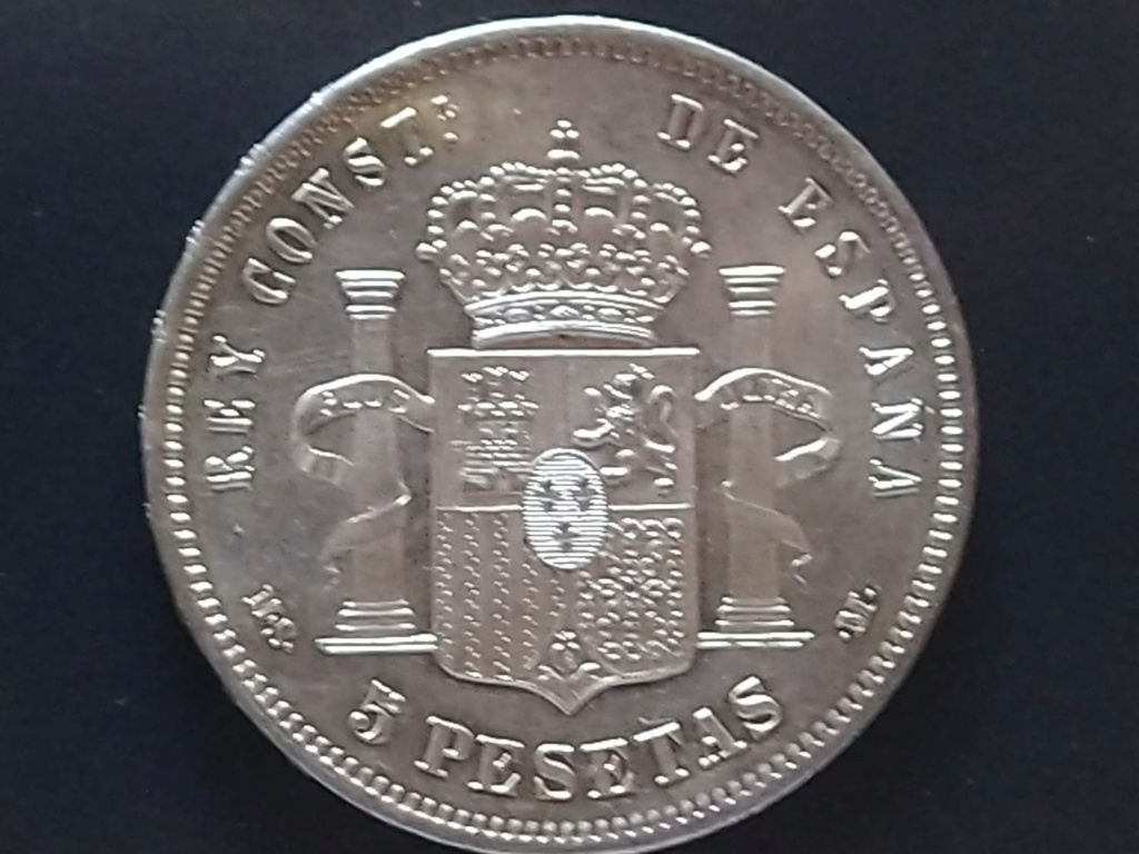 5 pesetas 1885 (*18-87). Alfonso XII Img_2041