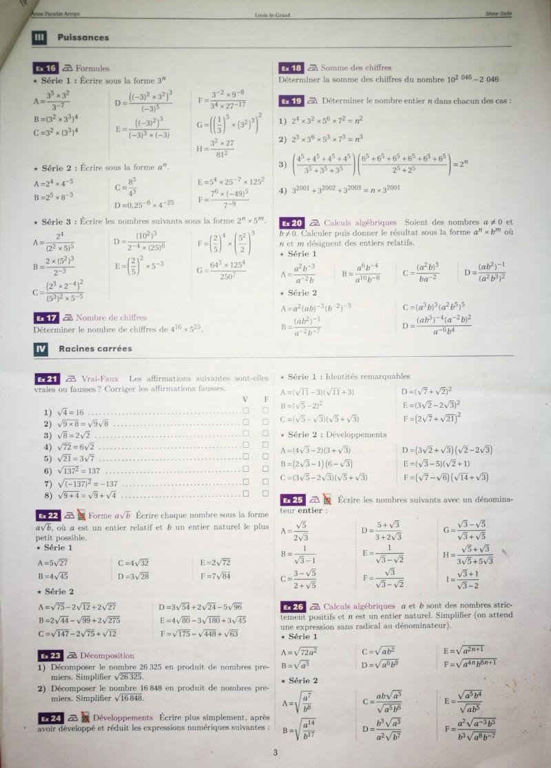 Cahier de vacances mathématiques Seconde 20190712