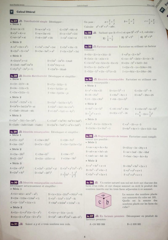 Cahier de vacances mathématiques Seconde 20190713